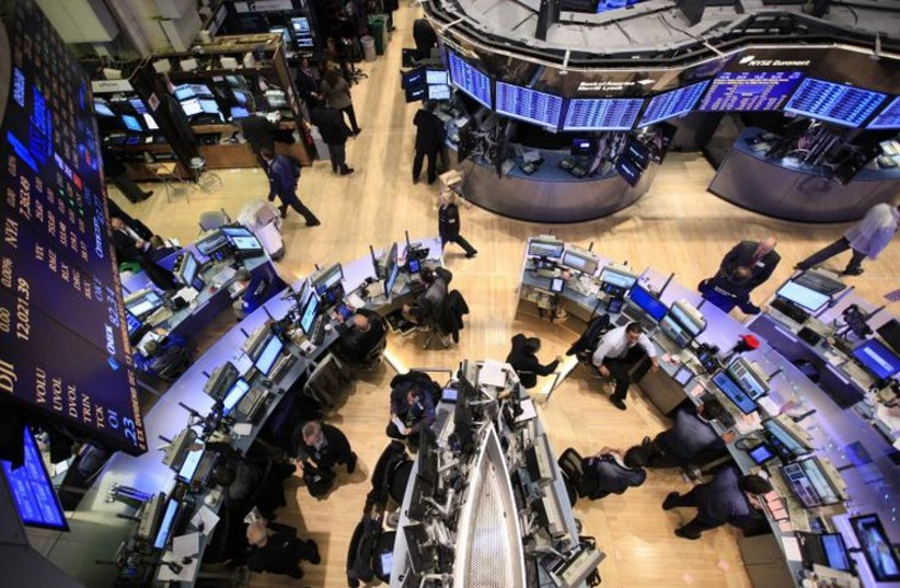 The floor of the New York Stock Exchange (photo credit: REUTERS)