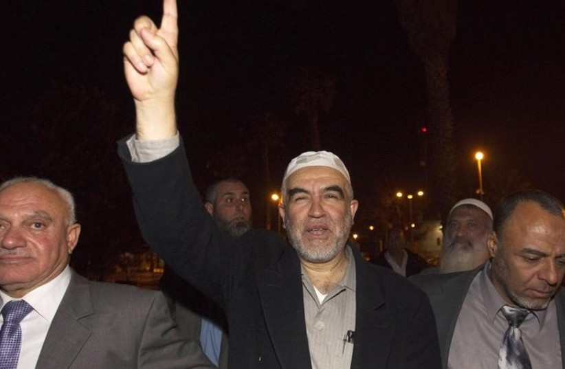 Sheikh Raed Salah (C), head of the Islamic Movement in northern Israel. (photo credit: REUTERS)