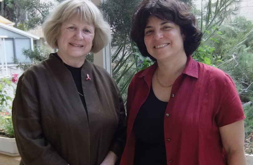PROF. MARY-CLAIRE KING (left) and PROF. EPHRAT LEVY-LAHAD (photo credit: JUDY SIEGEL-ITZKOVICH)
