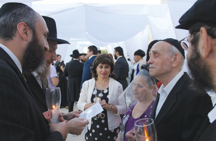 Esther Zuckerman and Shimon Leib marry in Dnepropetrovsk. (photo credit: SAM SOKOL)