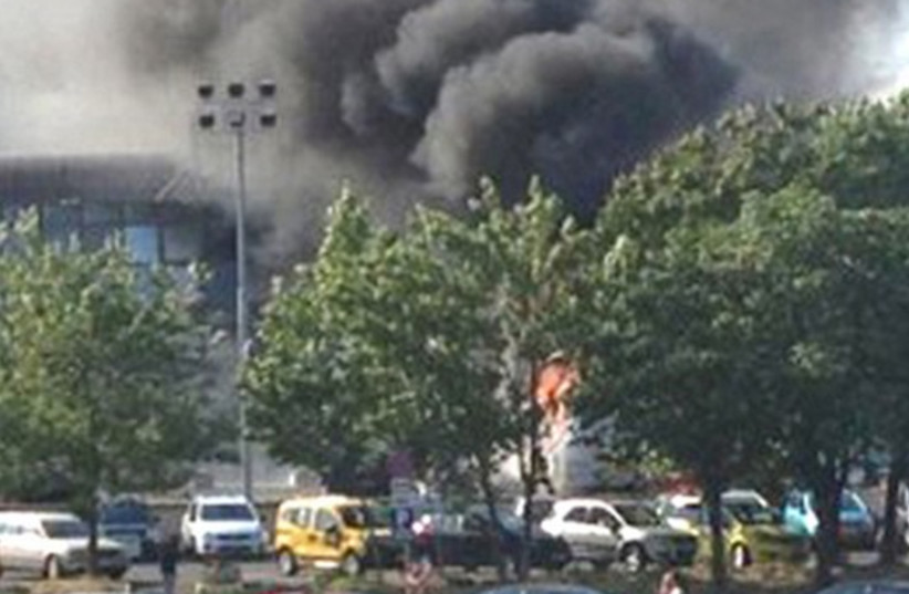 Bulgaria bus bombing which targeted Israelis in July 2012 (photo credit: REUTERS)