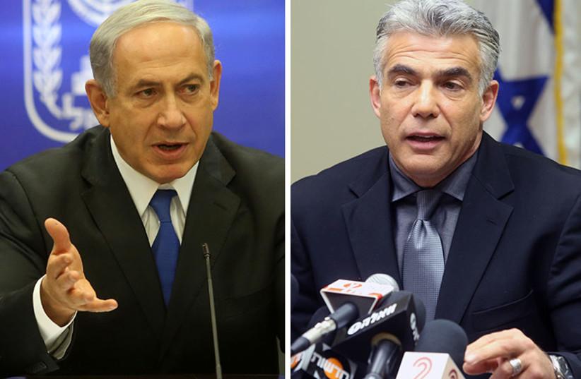 Netanyahu and Lapid (photo credit: MARC ISRAEL SELLEM/THE JERUSALEM POST)