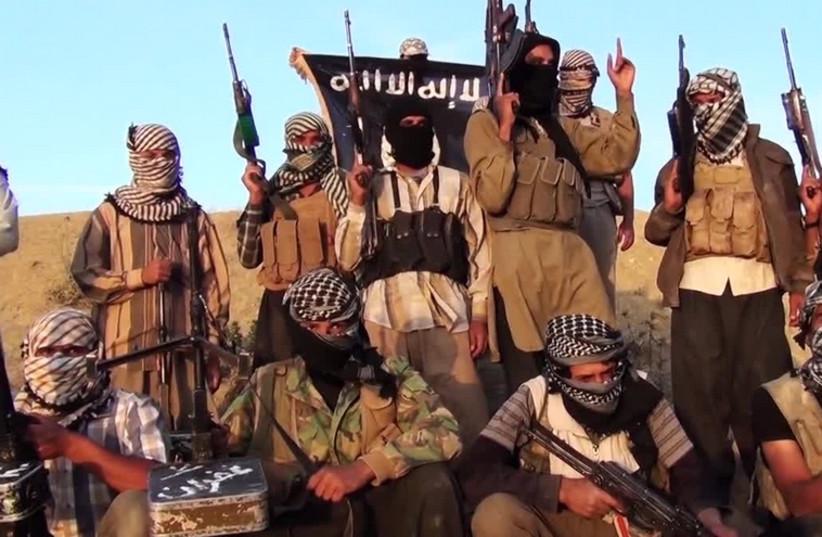 ISIS militants (photo credit: ARAB MEDIA)