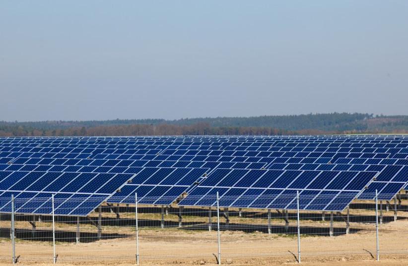 Solar panels (photo credit: INGIMAGE)