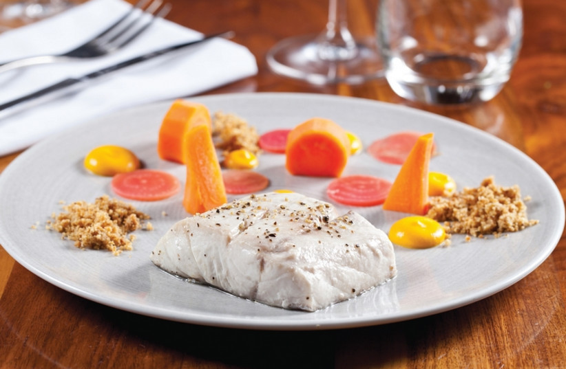 Steamed fish with carrots (photo credit: BOAZ LAVI)