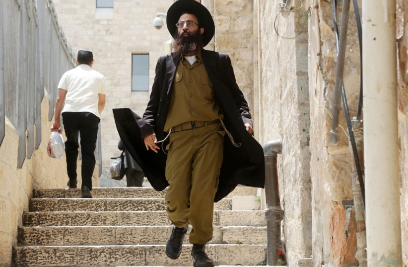 Haredi soldier (photo credit: MARC ISRAEL SELLEM/THE JERUSALEM POST)