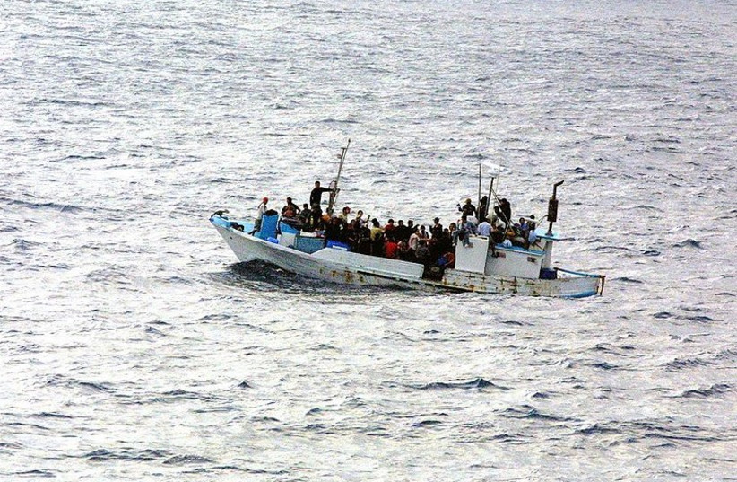 Immigrants on a boat [file] (photo credit: Wikimedia Commons)