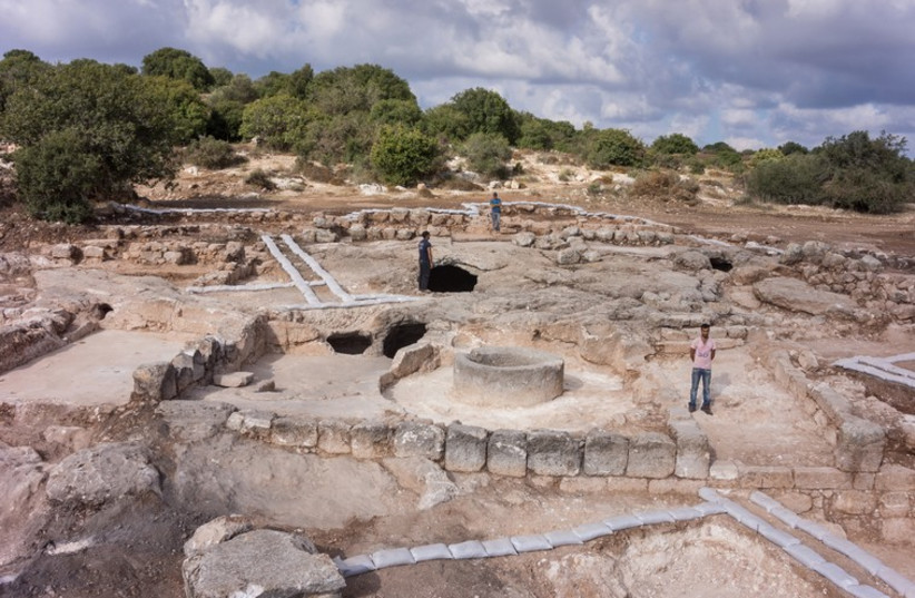The site of an archaeological dig near Beit Shemesh (photo credit: Israel Antiquities Authority)