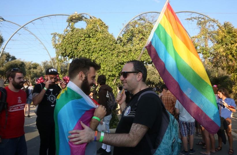 Gay parade in Jerusalem (photo credit: MARC ISRAEL SELLEM/THE JERUSALEM POST)