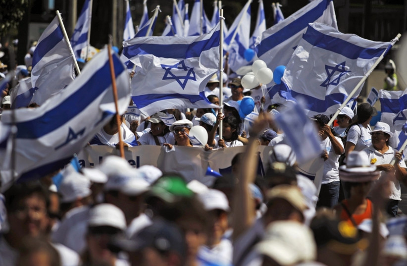 Pro israel demonstration (photo credit: REUTERS)