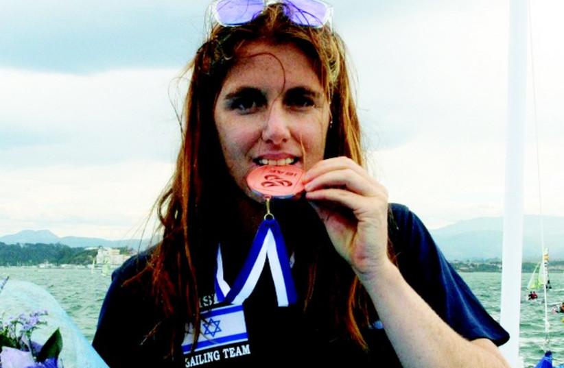 Israeli Ma'ayan Davidovich  (photo credit: PABLO LANZA/ISRAEL SAILING ASSOCIATION)