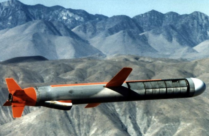 A US-made Tomahawk cruise missile. (photo credit: REUTERS)