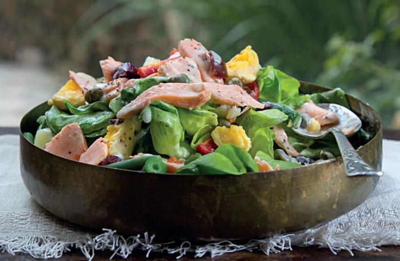 Salmon and potato salad (photo credit: LIMOR LANIADO-TIROCHE)