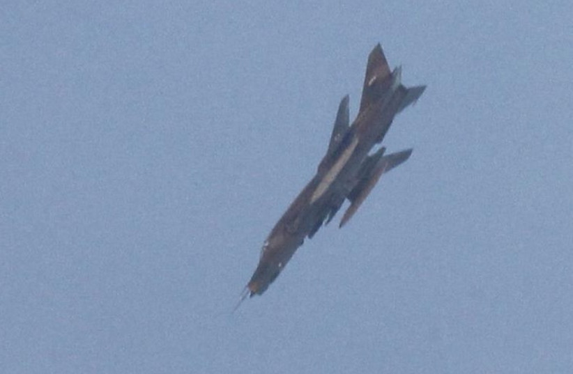 Syrian Regime fighter jet (photo credit: REUTERS)