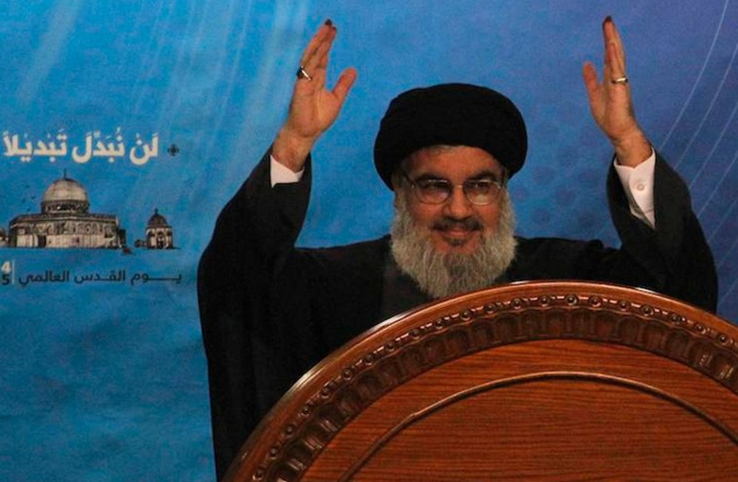 Hezbollah Secretary-General Hassan Nasrallah (photo credit: REUTERS)