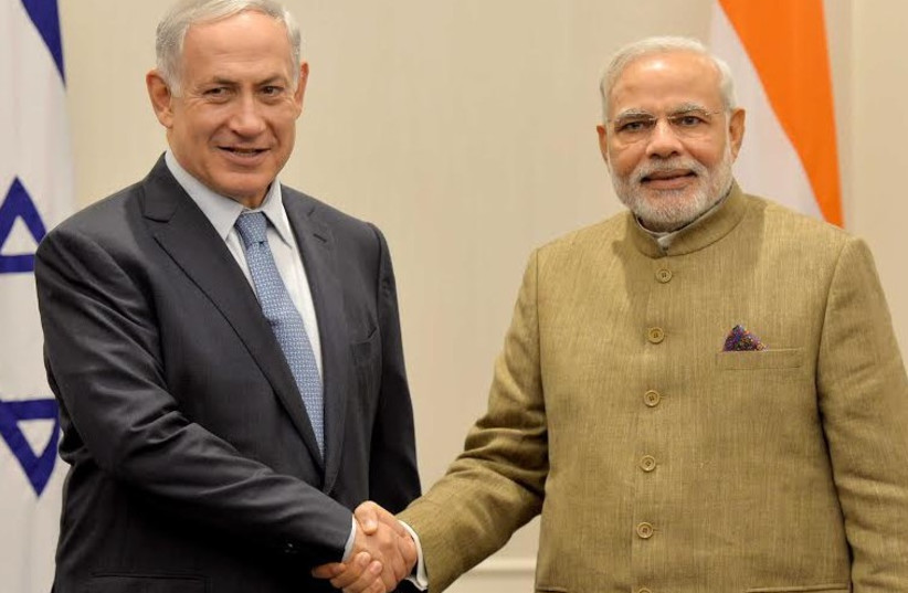 PM Netanyahu and India's Modi (photo credit: PRIME MINISTER'S OFFICE)