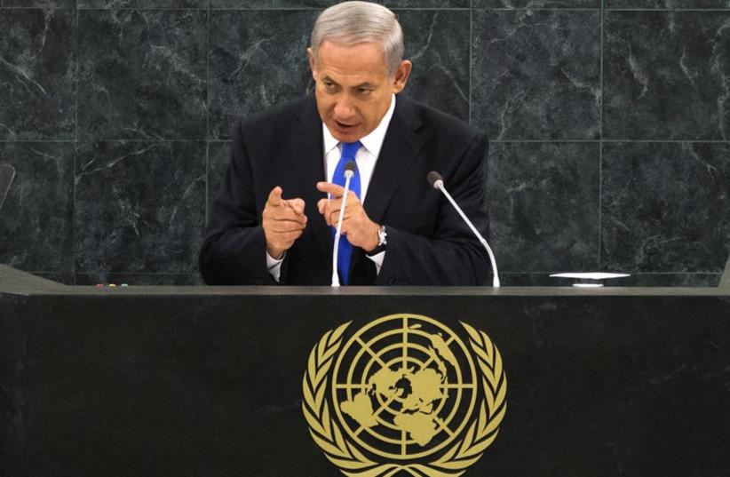 Netanyahu addresses UN General Assembly (photo credit: REUTERS)