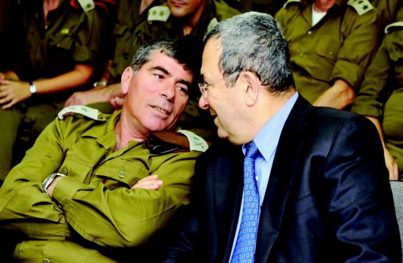 Then-IDF chief Gabi Ashkenazi (L) and then-Defense Minister Ehud Barak (photo credit: MARC ISRAEL SELLEM)