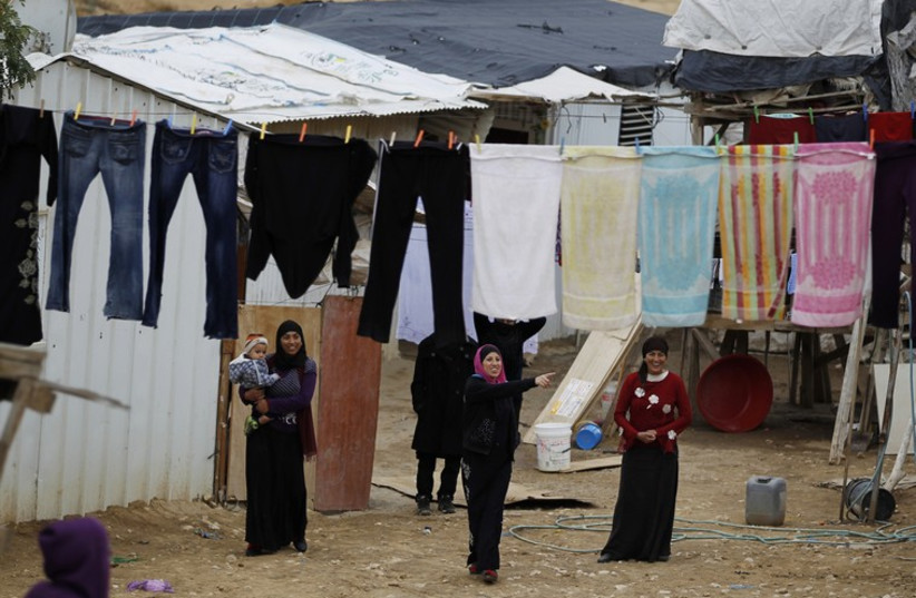 Beduin women in Rahat, Israel. (photo credit: REUTERS)