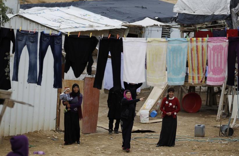 Beduin women in Rahat, Israel. (photo credit: REUTERS)