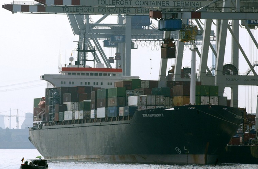 Zim cargo ship (photo credit: REUTERS)