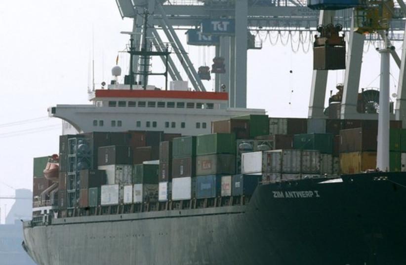 Zim cargo ship (photo credit: REUTERS)
