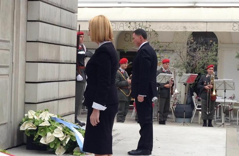Knesset Speaker Yuli Edelstein in Vienna, September 30  (photo credit: KNESSET SPEAKER YULI EDELSTEIN'S OFFICE)