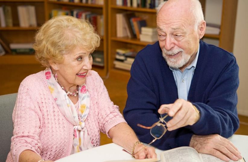 Elderly couple (illustrative) (photo credit: REUTERS)