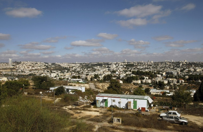 A general view of the Givat Hamatos neighborhood is seen in east Jerusalem  (photo credit: REUTERS)