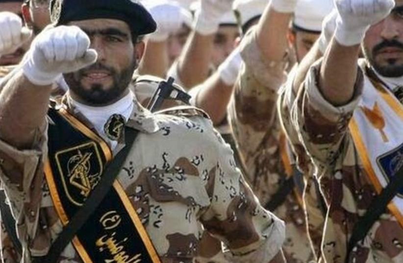 Iran's Revolutionary Guards (photo credit: REUTERS)