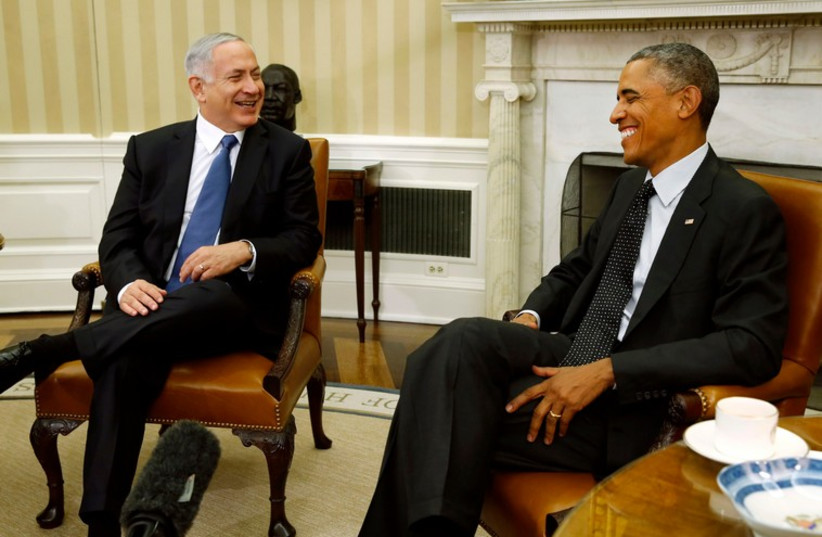 Prime Minister Binyamin Netanyahu (L) and US President Barack Obama meet in the White House (photo credit: REUTERS)