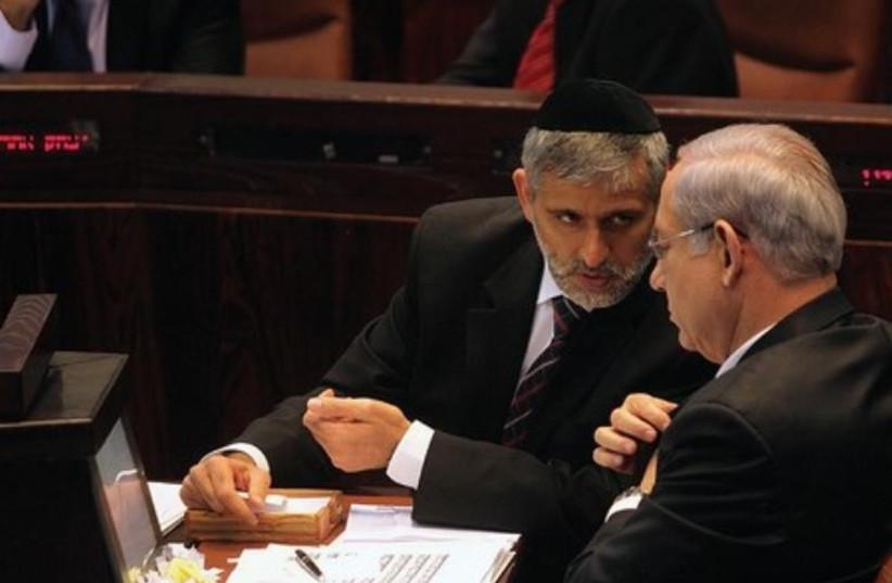 Binyamin Netanyahu and Eli Yisahi  (photo credit: Courtesy)