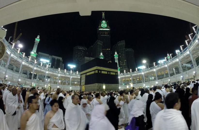 Pilgrims at Haj ceremony in Mecca (photo credit: REUTERS)