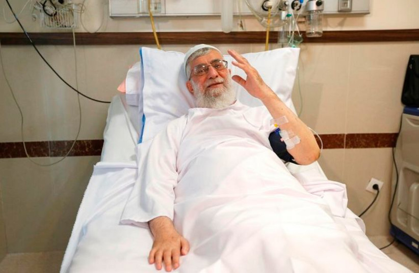 Khamenei in the hospital (photo credit: TWITTER)