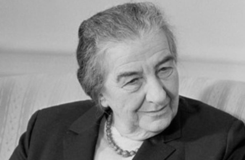 Golda Meir, the fourth Israeli prime minister. (photo credit: Wikimedia Commons)