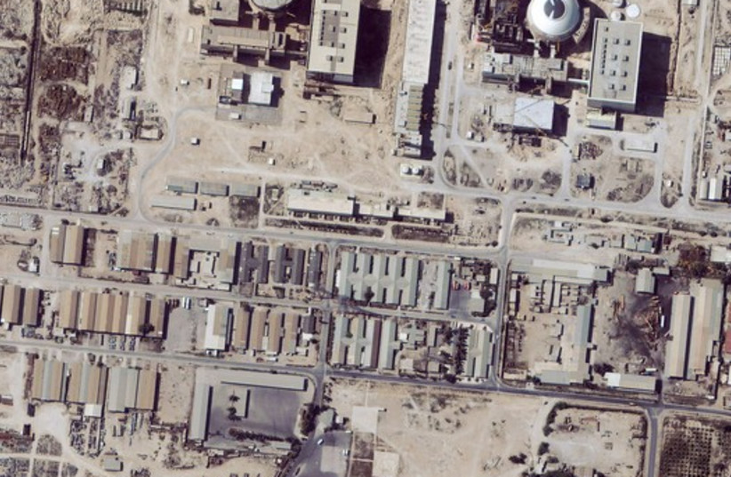 Satellite images of Iranian nuclear facility (file) (photo credit: REUTERS)