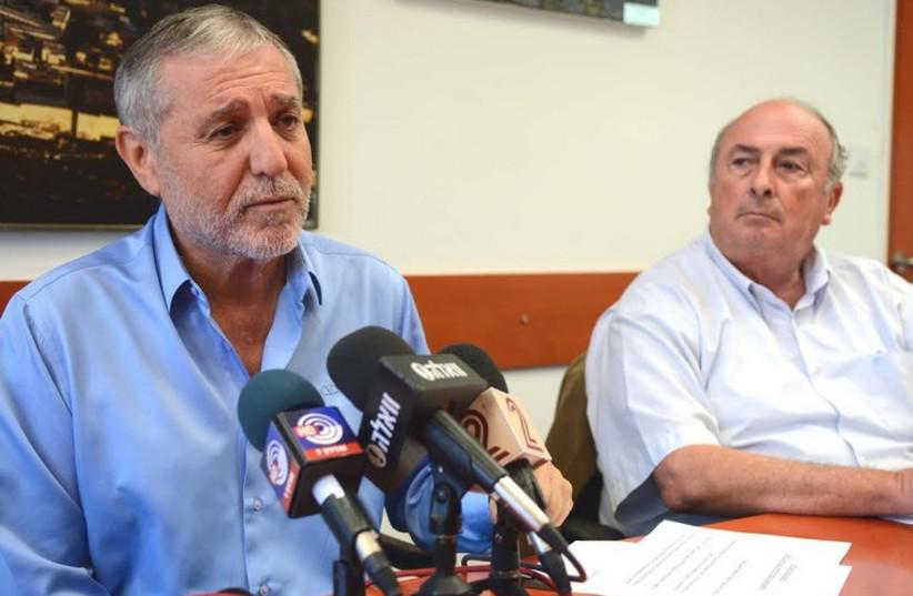 Welfare and Social Services Minister Meir Cohen (L) and Eli Alalouf (photo credit: AVI HAYOUN)