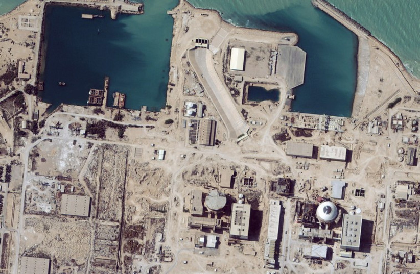 Satellite image shows a nuclear facility in Iran (photo credit: REUTERS)