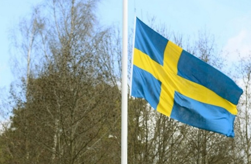 Flag of Sweden (photo credit: REUTERS)