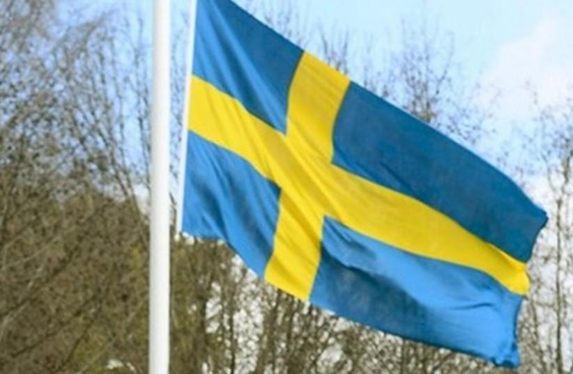 Flag of Sweden (photo credit: REUTERS)