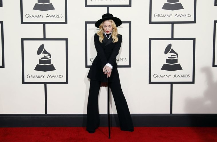 Madonna arrives at the 56th annual Grammy Awards in Los Angeles, California January 26, 2014 (photo credit: REUTERS)