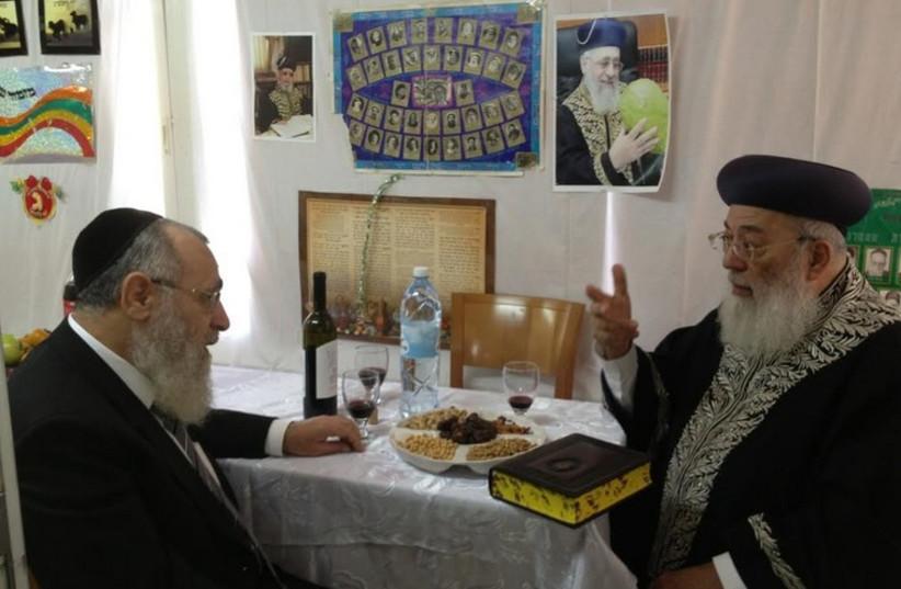 Sephardi Chief Rabbi Yitzhak Yosef (L) and former Sephardi Chief Rabbi Shlomo Amar (R). (photo credit: OFFICE OF RABBI SHLOMO AMAR)