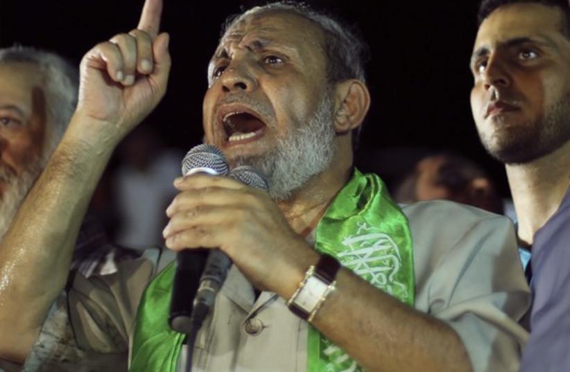 Hamas official Mahmoud Zahar (photo credit: REUTERS)
