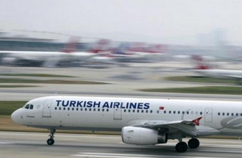 A Turkish Airlines plane in Istanbul.  (photo credit: REUTERS)