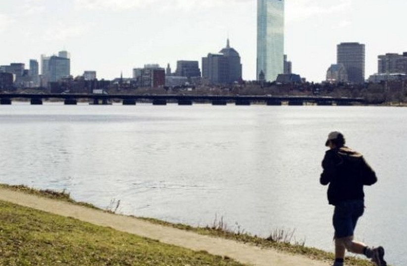 A view of the Charles River with the Boston skyline in the background (photo credit: REUTERS)