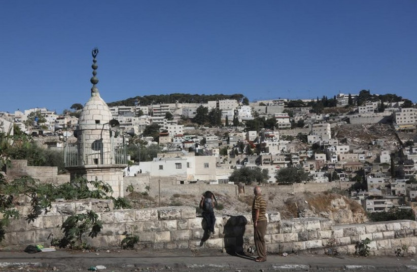 East Jerusalem's Silwan neighborhood, October 21 (photo credit: MARC ISRAEL SELLEM)