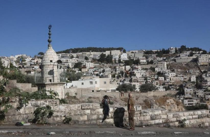 East Jerusalem's Silwan neighborhood, October 21 (photo credit: MARC ISRAEL SELLEM)