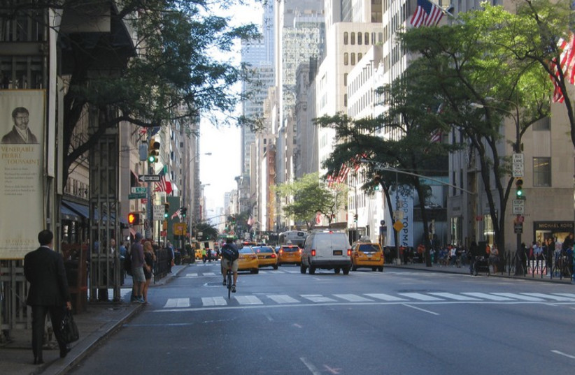 Looking down 5th Avenue from 50th Street (photo credit: BEN G. FRANK)