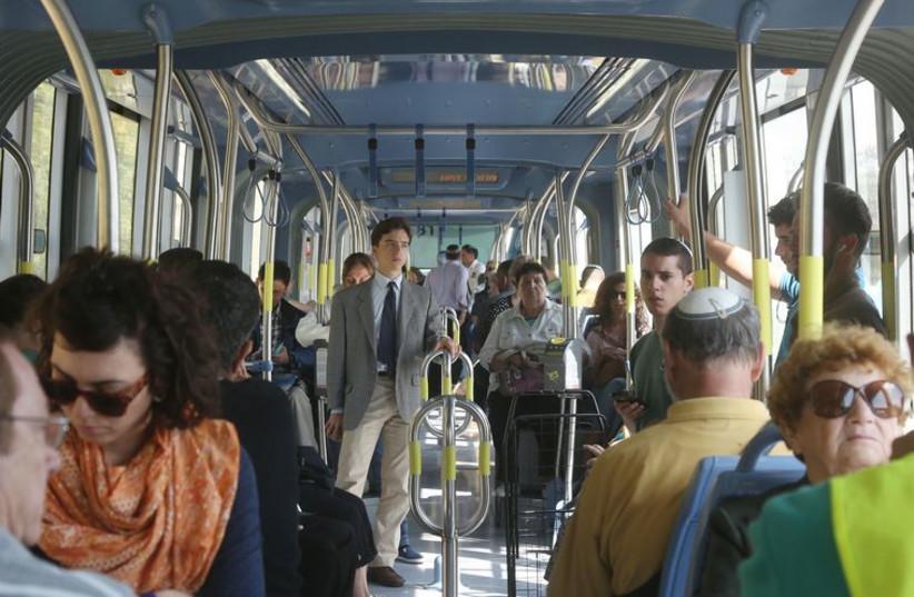 Jerusalem light rail (photo credit: MARC ISRAEL SELLEM/THE JERUSALEM POST)