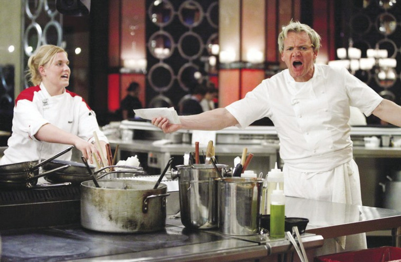 CELEBRITY CHEF Gordon Ramsay shows contestants who's the boss on 'Hell's Kitchen.' (photo credit: COLLIDER)